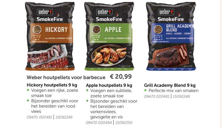 Aveve Weber Houtpellets Voor Barbecue