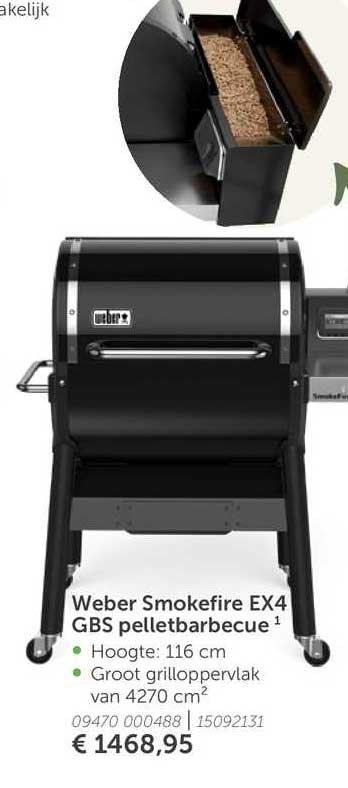 Aveve Weber Smokefire EX4 GBS Pelletbarbecue