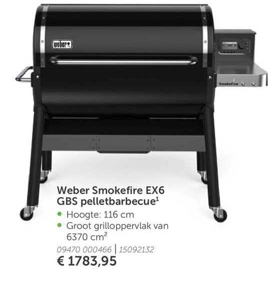 Aveve Weber Smokefire EX6 GBS Pelletbarbecue