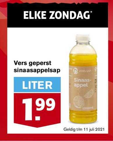 Hoogvliet Vers Geperst Sinaasappelsap