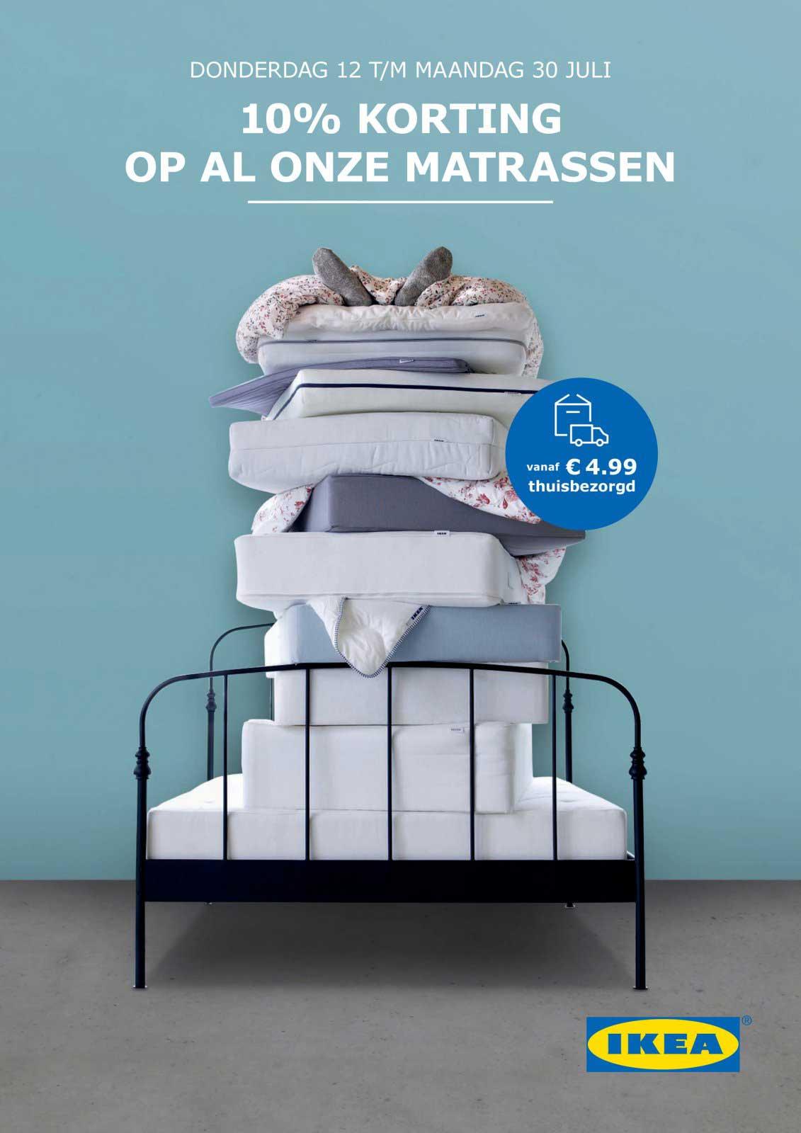 IKEA 10% Korting Op Al Onze Matrassen