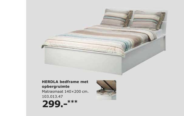 IKEA Herdla Bedframe Met Opbergruimte