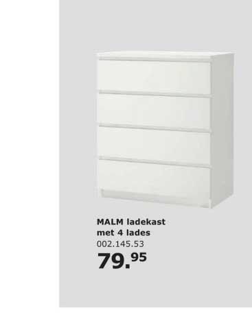 IKEA Malm Ladekast Met 4 Lades