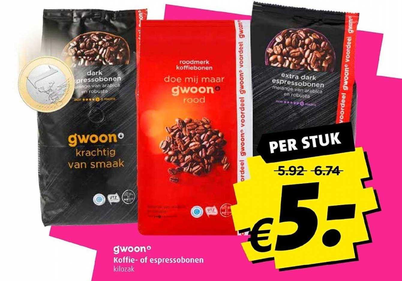 Boni G'woon Koffie Of Espressobonen