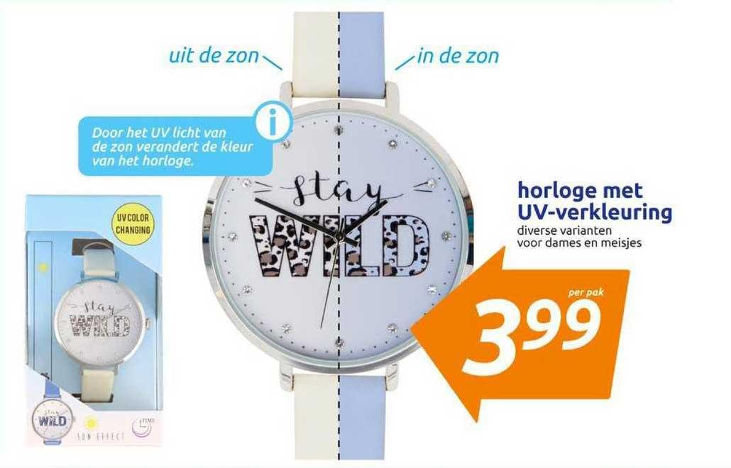 Horloge Met UV Verkleuring Aanbieding bij Action