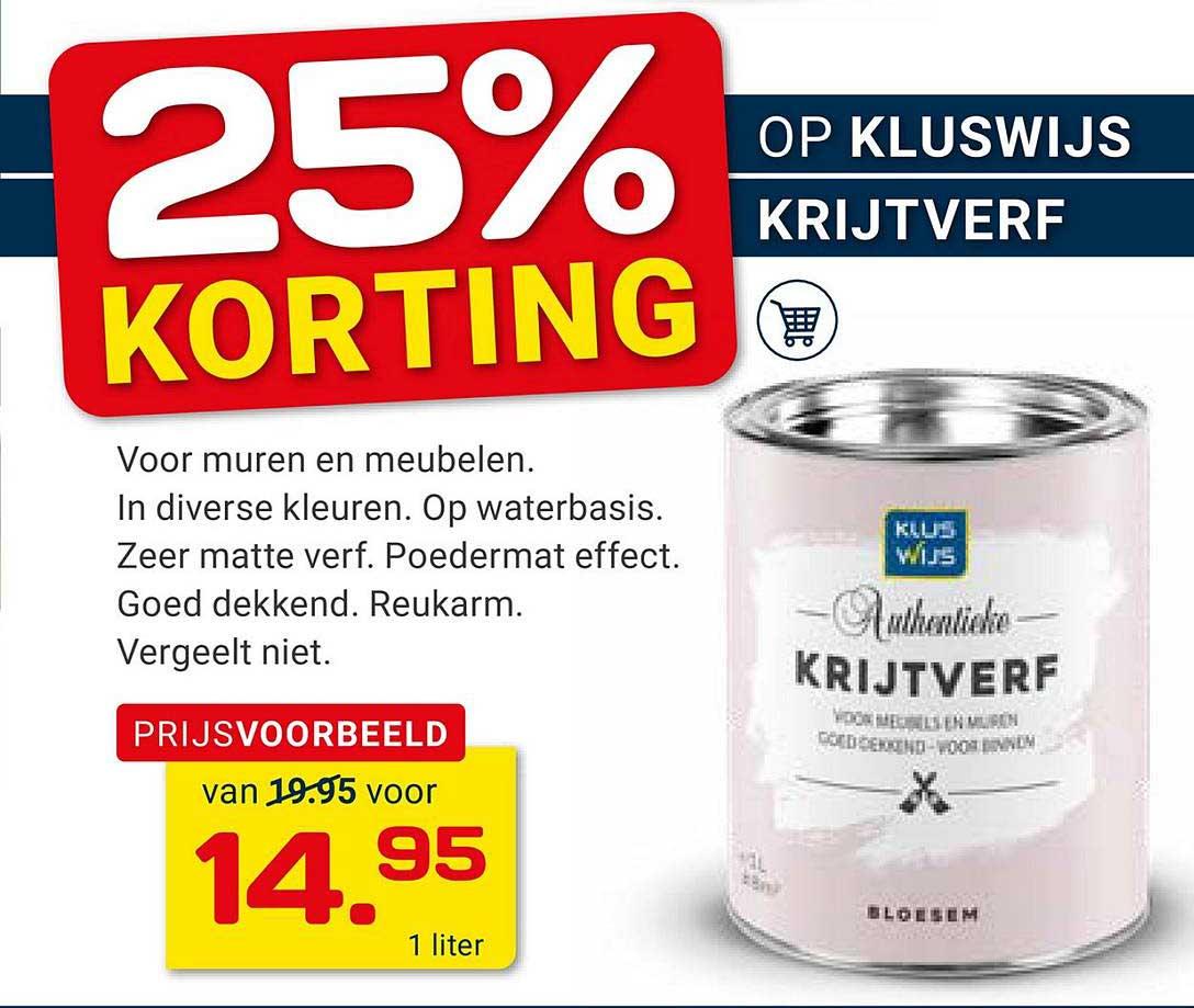KlusWijs Krijtverf 25% Korting