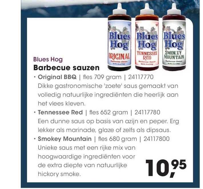 HANOS Blues Hog Barbecue Sauzen