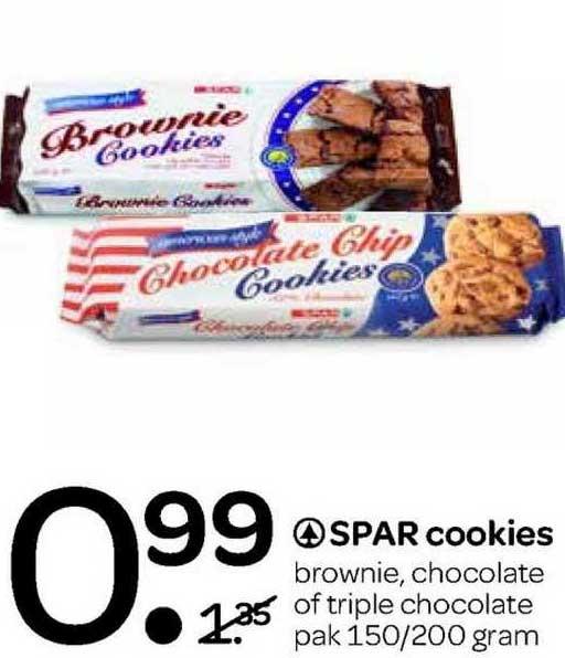 Spar Spar Cookies Brownie, Chocolate Of Triple Chocolate