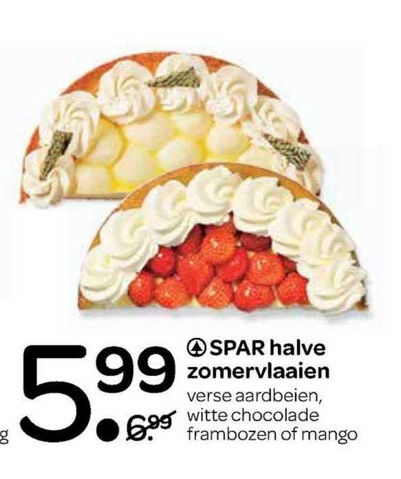 Spar Spar Halve Zomervlaaien : Verse Aardbeien, Witte Chocolade Frambozen Of Mango