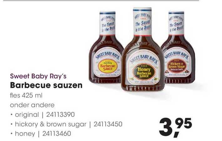 HANOS Sweet Baby Ray's Barbecue Sauzen