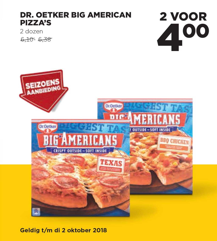 Jumbo Dr Oetker Big American Pizza's
