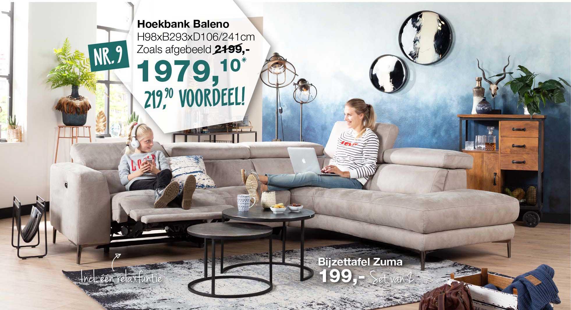 De Bommel Meubelen Hoekbank Baleno