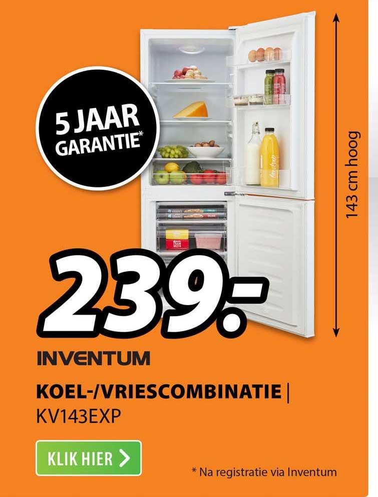 Expert Inventum Koel--Vriescombinatie | KV143EXP