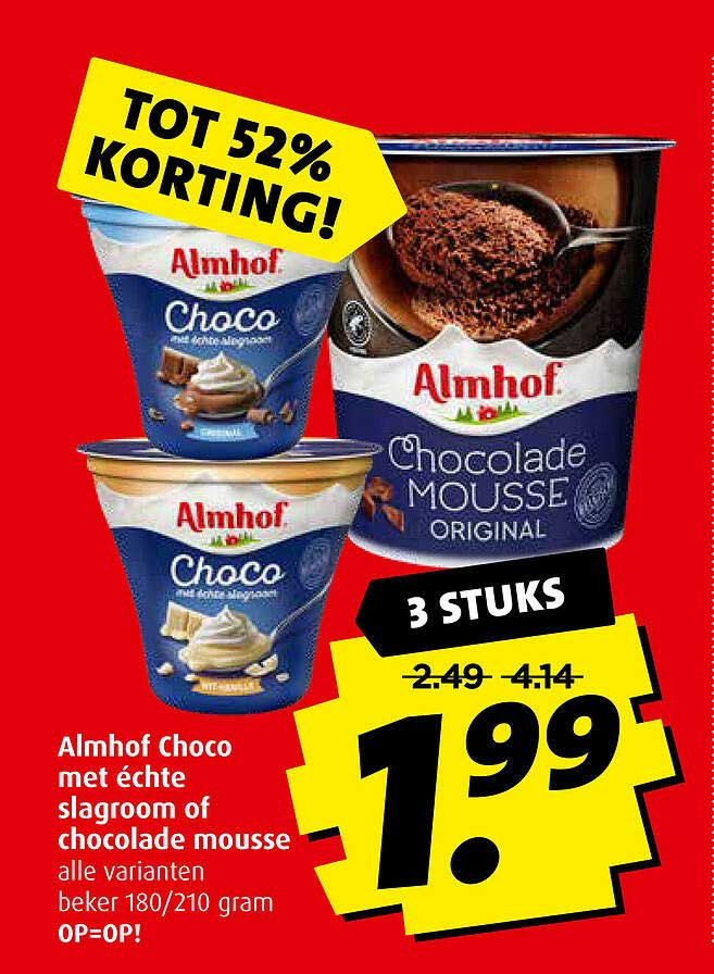 Boni Almhof Choco Met Échte Slagroom Of Chocolade Mousse Tot 52% Korting
