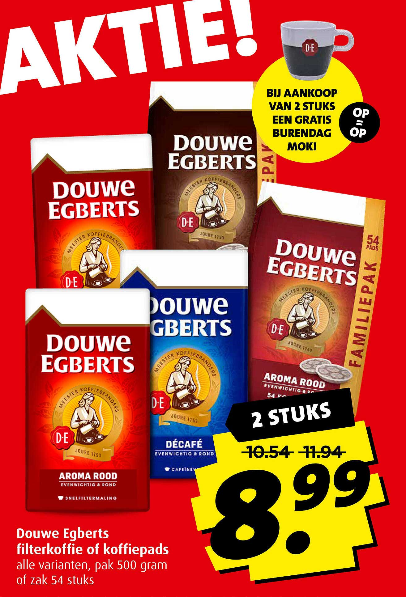 Boni Douwe Egberts Filterkoffie Of Koffiepads