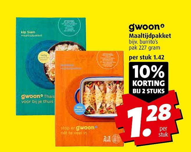 Boni Gwoon Maaltijdpakket 10% Korting Bij 2 Stuks