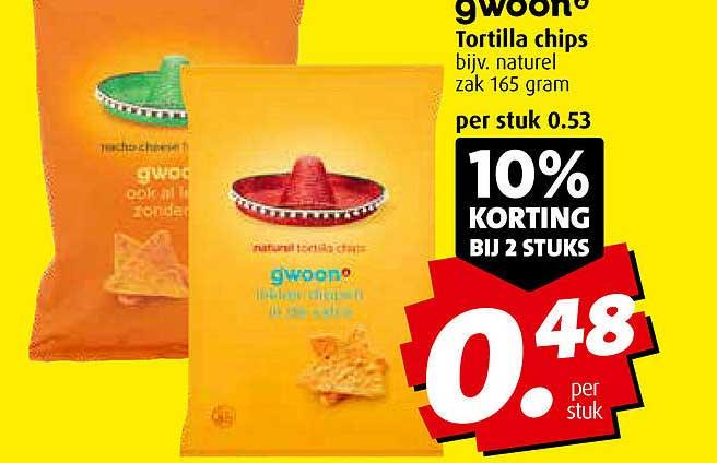 Boni Gwoon Tortilla Chips 10% Korting Bij 2 Stuks