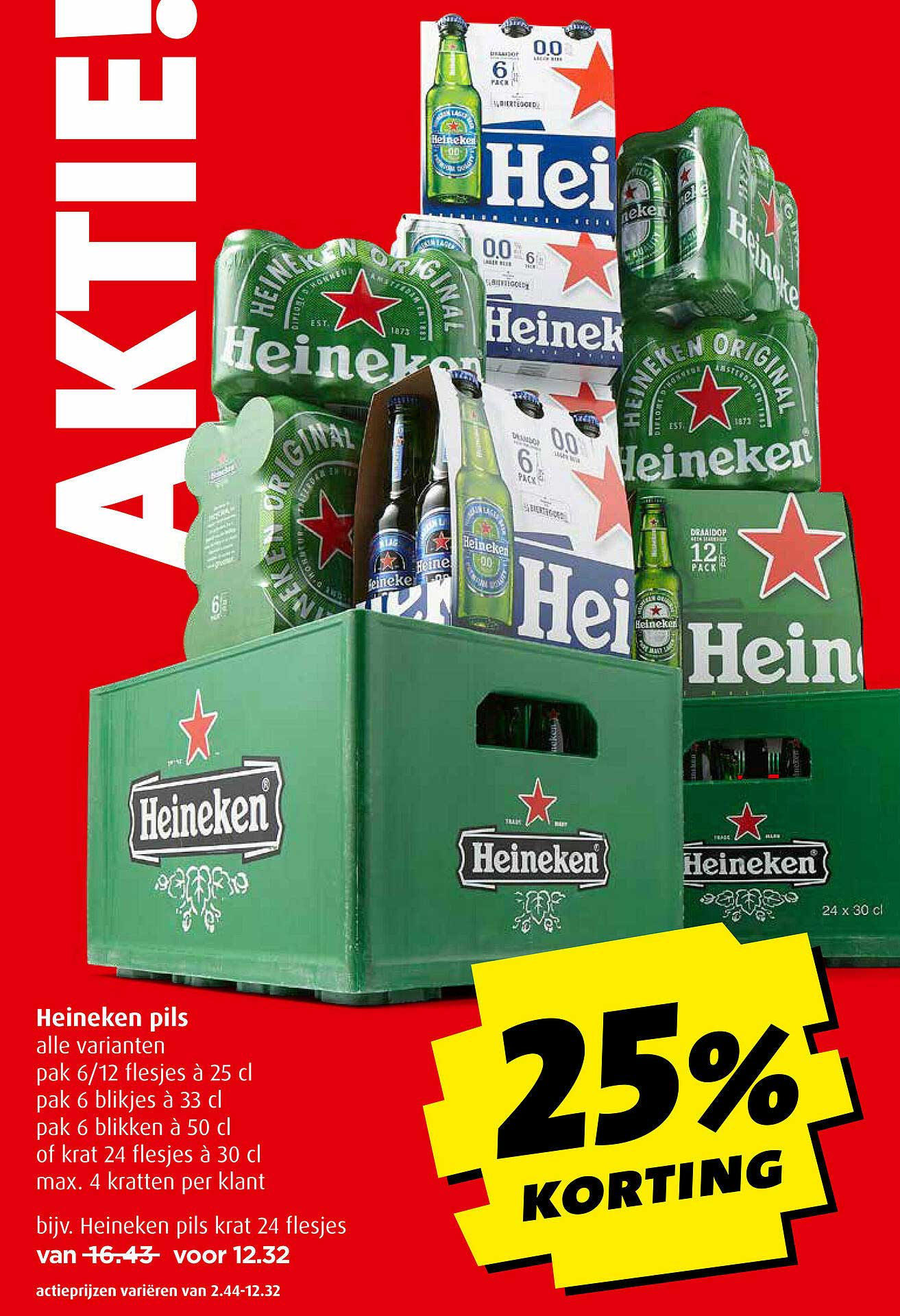 Boni Heineken Pils 25% Korting