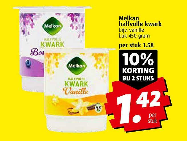 Boni Melkan Halfvolle Kwark 10% Korting Bij 2 Stuks