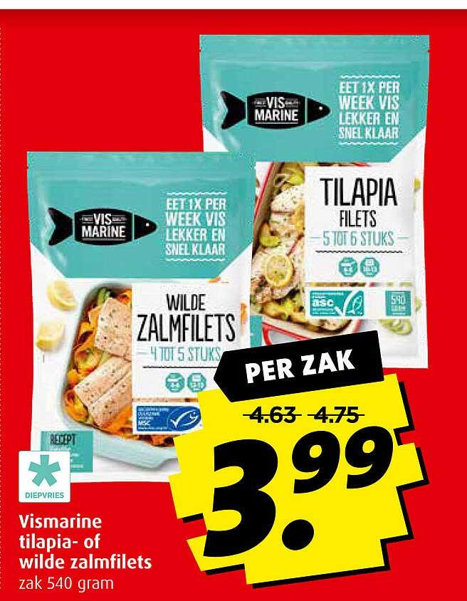 Boni Vismarine Tilapia- Of Wilde Zalmfilets
