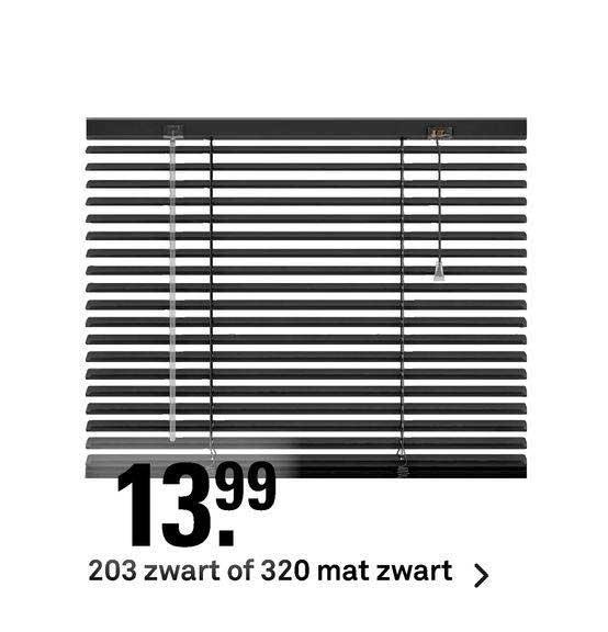 Karwei 203 Zwart Of 320 Mat Zwart Horizontale Jaloezieën