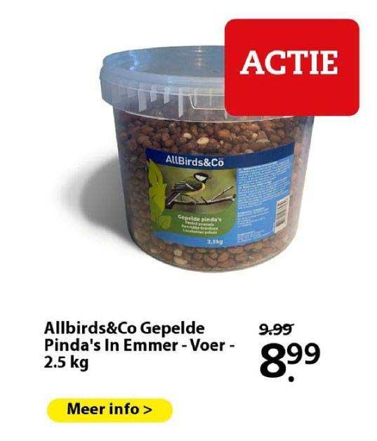 Boerenbond Allbirds&Co Gepelde Pinda's In Emmer - Voer - 2.5 Kg