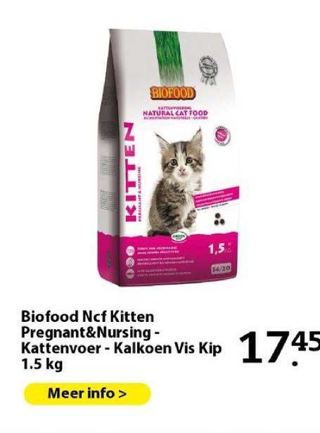 Boerenbond Biofood Ncf Kitten Pregnant&Nursing - Kattenvoer - Kalkoen Vis Kip 1.5 Kg