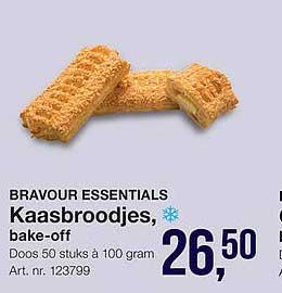 Bidfood Bravour Essentials Kaasbroodjes, Bake-Off