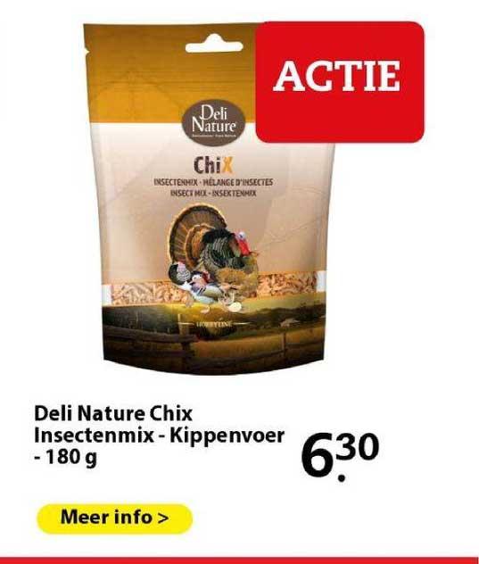 Boerenbond Deli Nature Chix Insectenmix - Kippenvoer - 180 G