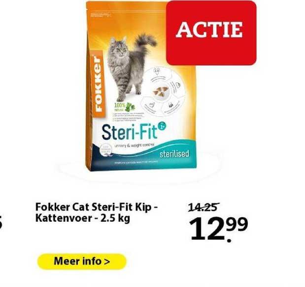 Boerenbond Fokker Cat Steri-Fit Kip - Kattenvoer - 2.5 Kg