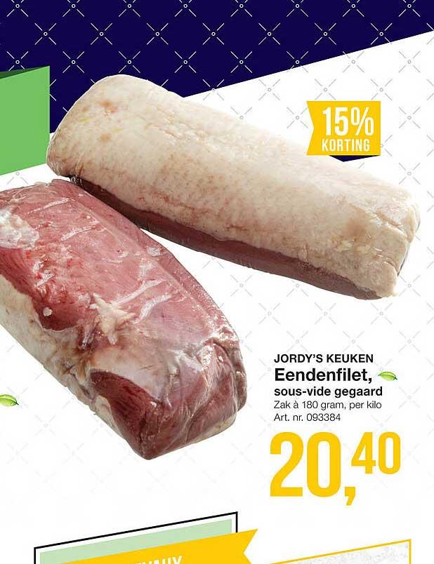 Bidfood Jordy's Keuken Eendenfilet, Sous-Vide Gegaard 15% Korting