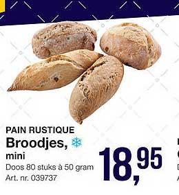 Bidfood Pain Rustique Broodjes, Mini