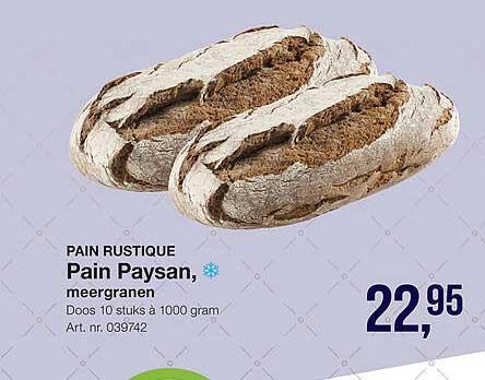 Bidfood Pain Rustique Pain Paysan, Meergranen