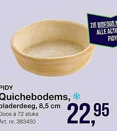Bidfood Pidy Quichebodems, Bladerdeeg, 8,5 Cm