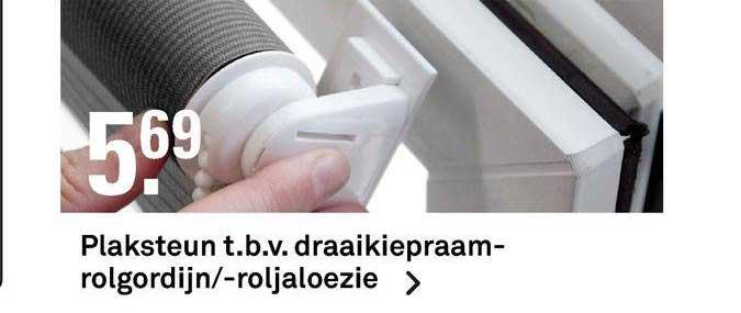 Karwei Plaksteun T.B.V. Draaikiepraamrolgordijn--Roljaloezie