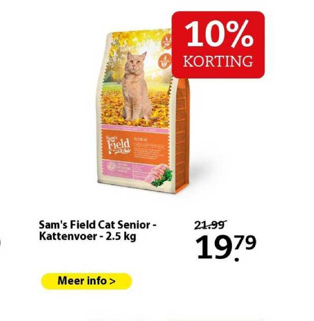 Boerenbond Sam's Field Cat Senior - Kattenvoer - 2.5 Kg 10% Korting