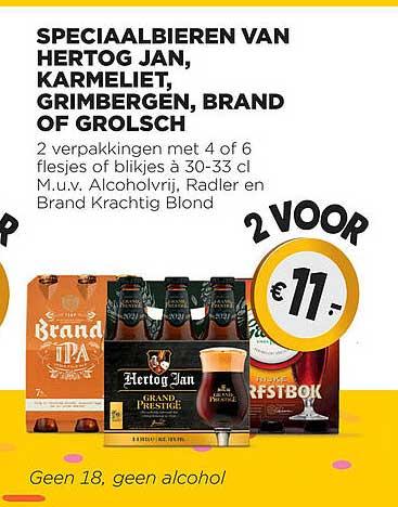 Jumbo Speciaalbieren Van Hertog Jan, Karmeliet, Grimbergen, Brand Of Grolsch