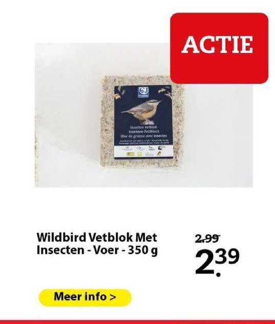 Boerenbond Wildbird Vetblok Met Insecten - Voer - 350 G