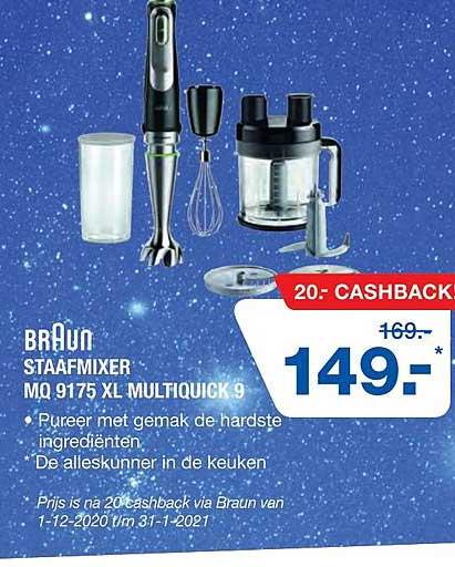 Electro World Braun Staafmixer MQ 9175 XL Multiquick 9