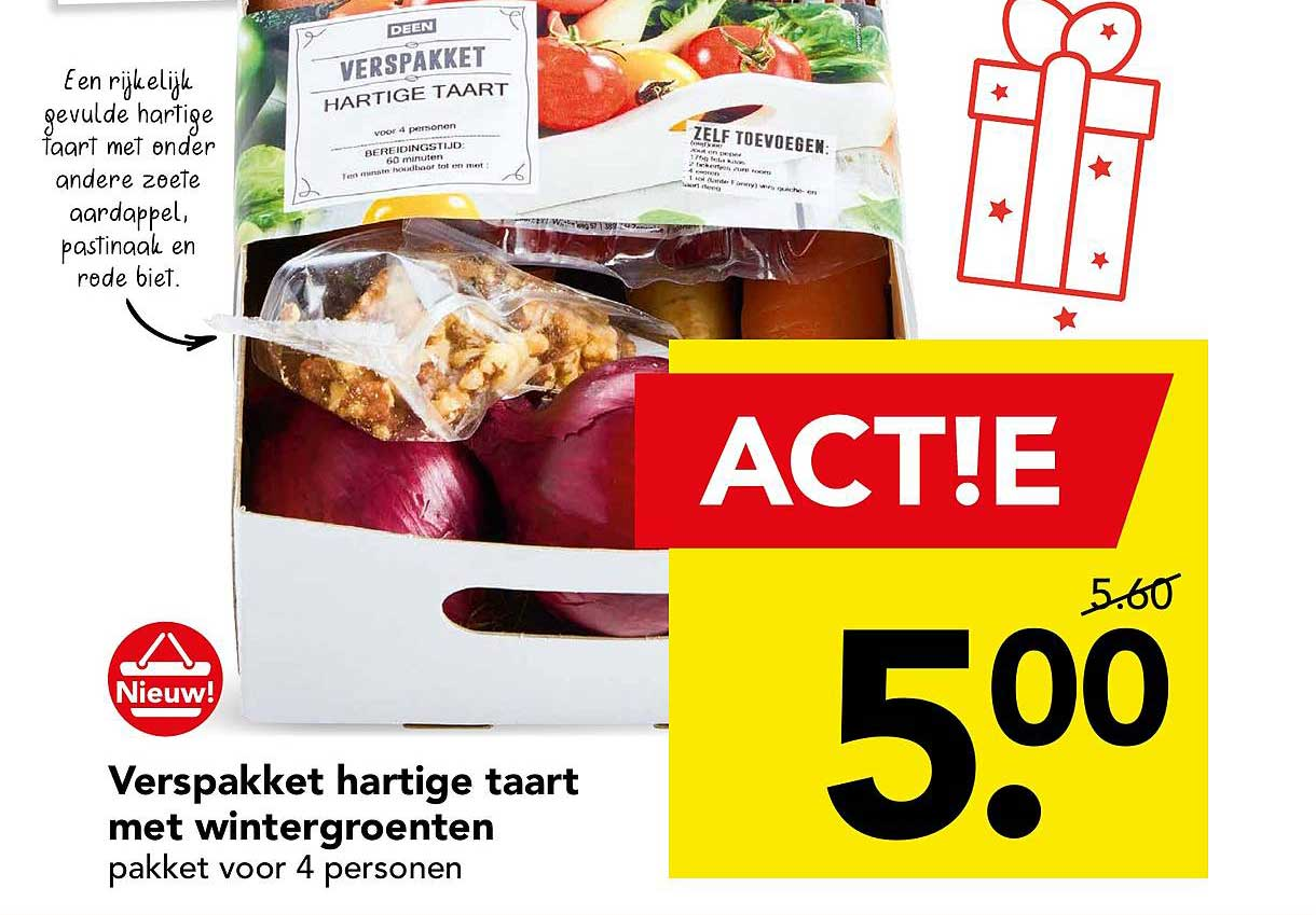 DEEN Verspakket Hartige Taart Met Wintergroenten