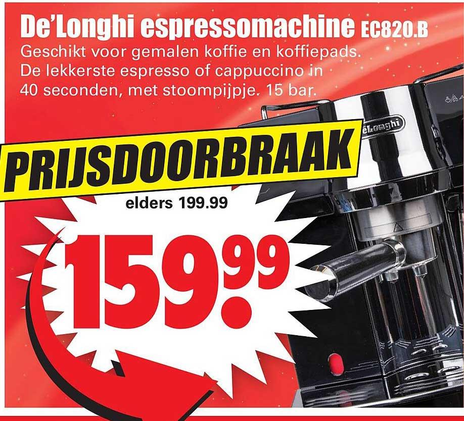 Dirk De'Longhi Espressomachine EC820.B