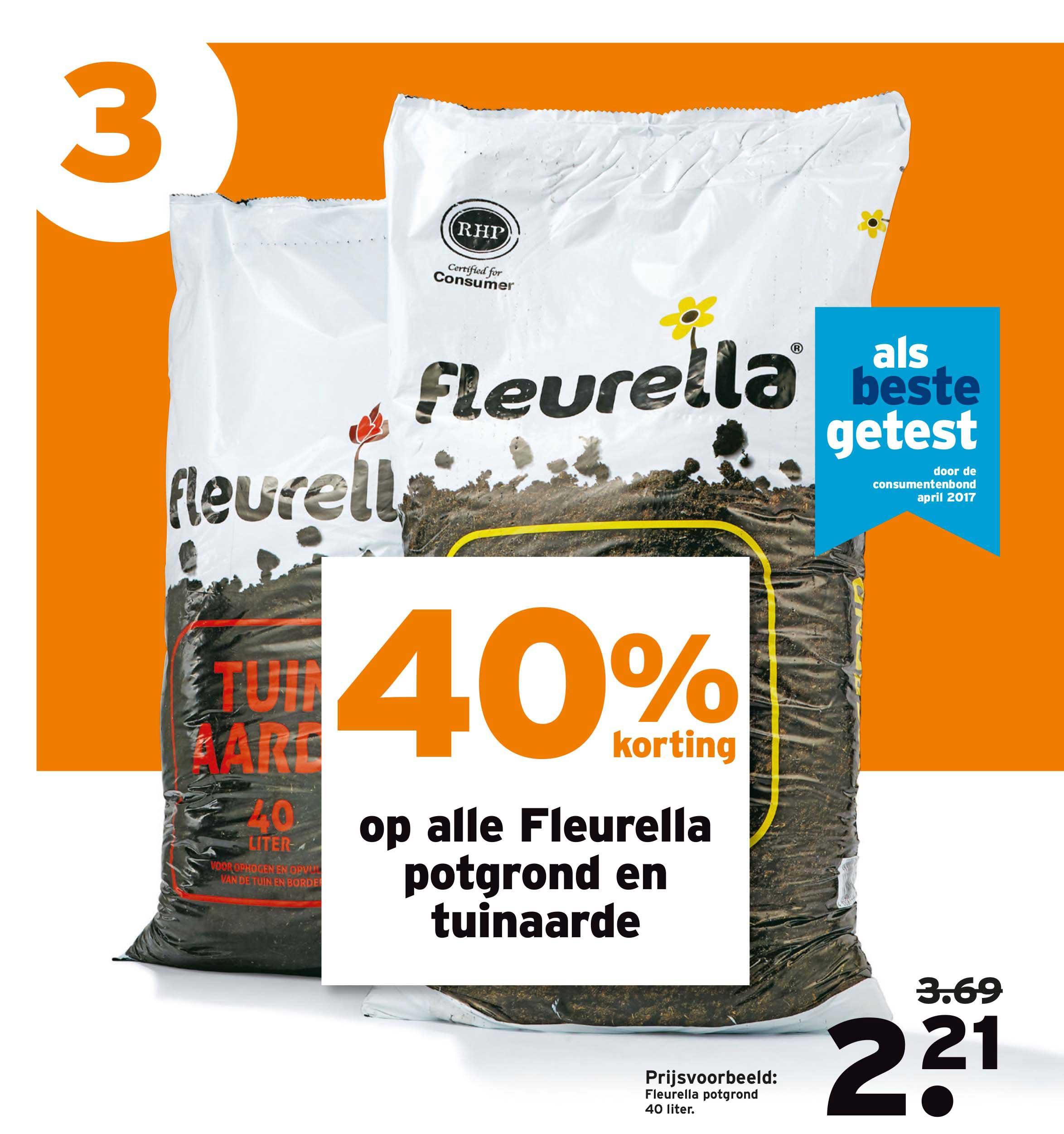 Gamma 40% Korting Op Alle Fleurella Potgrond En Tuinaarde