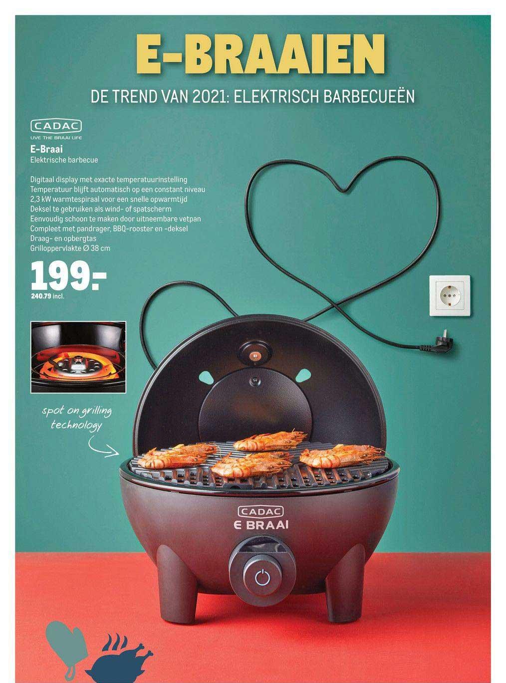 Makro Cadac E-Braai Elektrische Barbecue