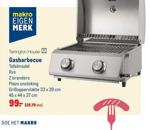 Makro Tarrington House Gasbarbecue Tafelmodel
