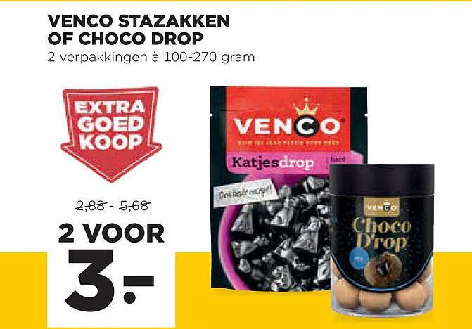 Jumbo Venco Stazakken Of Choco Drop