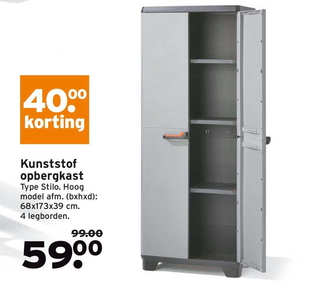 Gamma Kunststof Opbergkast: €40,- Korting