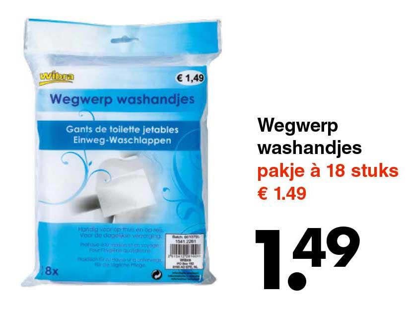 Wibra Wegwerp Washandjes