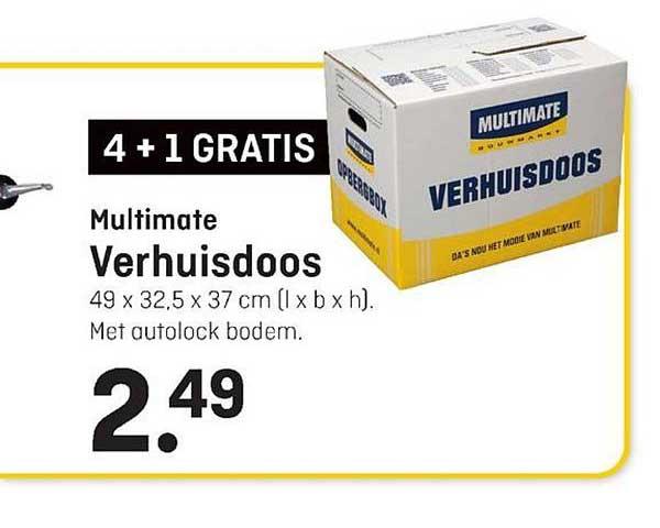 Multimate Multimate Verhuisdoos 4+1 Gratis