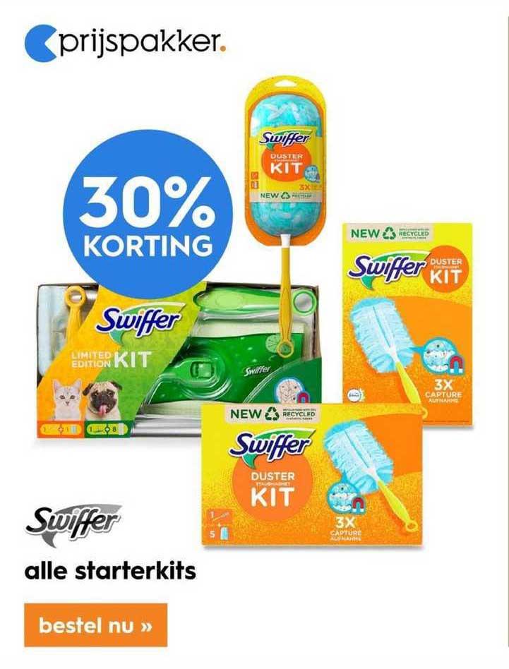 Blokker Alle Swiffer Starterkits 30% Korting