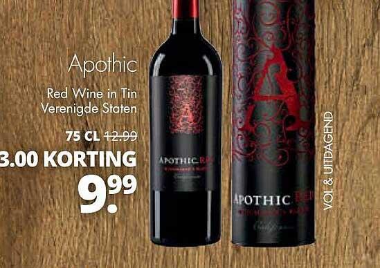 Mitra Apothic Red Wine In Tin Verenigde Staten